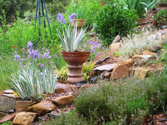 Concrete pedestal and rock steps - blog