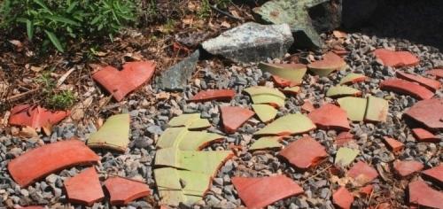 Broken terracotta