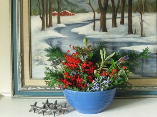 Bowl of winter berries