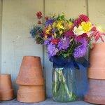 Garden junk. bouquet pots