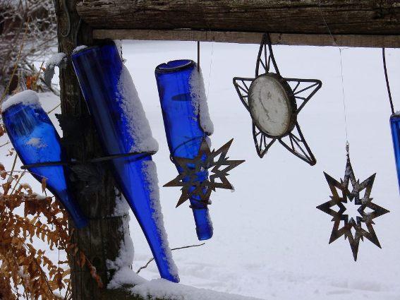 Jeanne Sammons's blue bottles