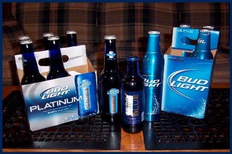 Bud Light Platinum in new blue bottles Photo by Nancy K Meyer
