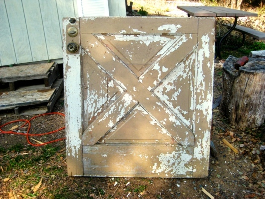 My old Dutch door before, found on trash day.