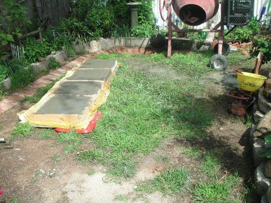 Becky's garden area before