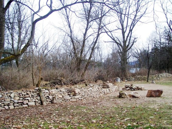 Stone Wall, in process