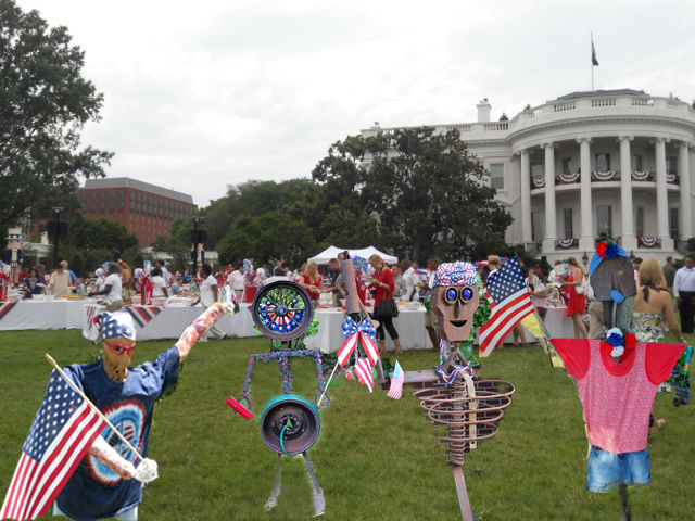 Our 'Crows, enjoying the private White House 4th of July picnic