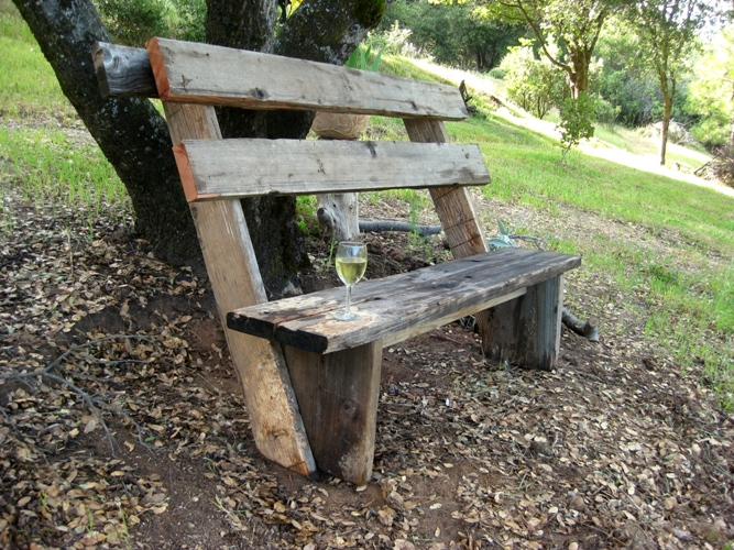How to build simple garden benches for free | Flea Market Gardening