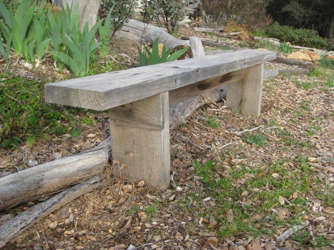 How to build simple garden benches for free | Flea Market ...