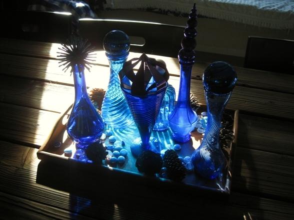 Cobalt reflecting beautiful light