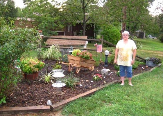 Nell and her 'Split Rail Garden.'