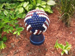 Nell's red, white and blue bowling ball created a sensation!