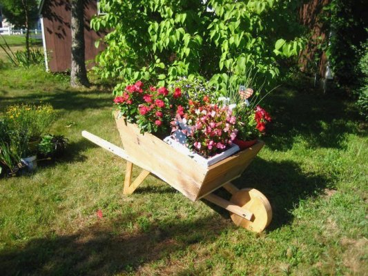 The wheelbarrow that started it all.