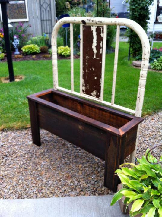How To Make A Bench And Planter From Old Bed Frames Flea