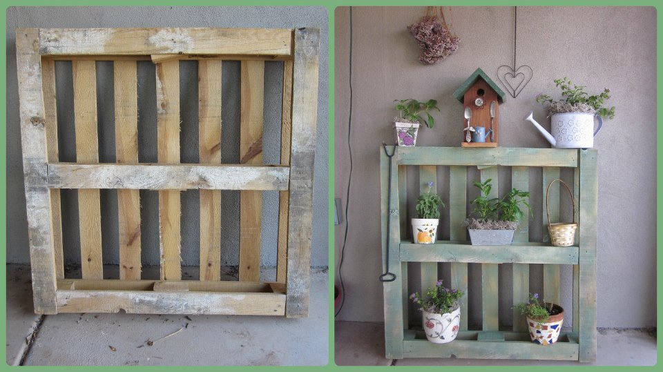 Carmen's pallet shelf