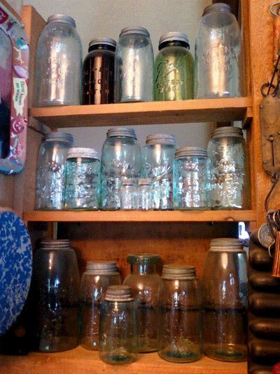 """""""Some of my favorite Mason Jars. A little bit dusty though. Julie laughs"""""""