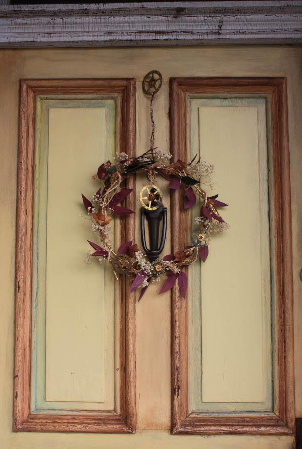 Clock and Gear Wreath