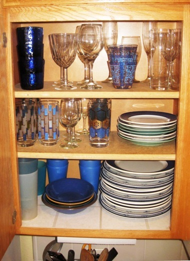 All these found at thrift stores or on ebay,...love blue!