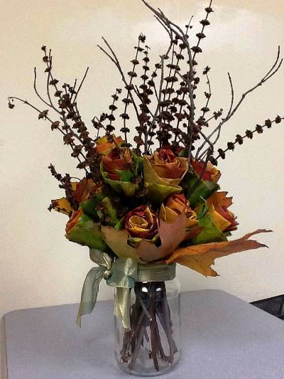 "Kathie Schram says, "" Here is the bouquet I made."""