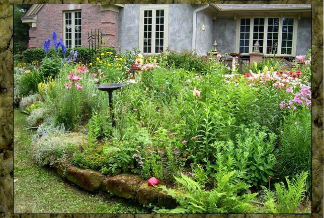 Joan Meyer's rock-edged garden