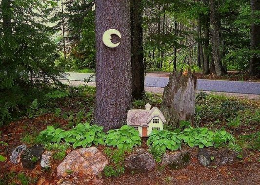 "Di-Ellen Davenport ""My Fairy Garden near the drive..."""