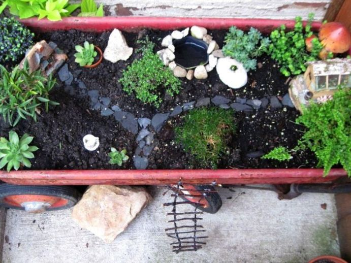 Fairy gardens can be anywhere!