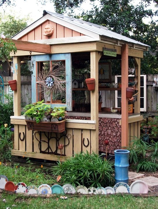 Mary's 'soon to famous' potting shed