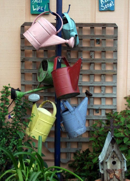 A most charming collection of watering cans