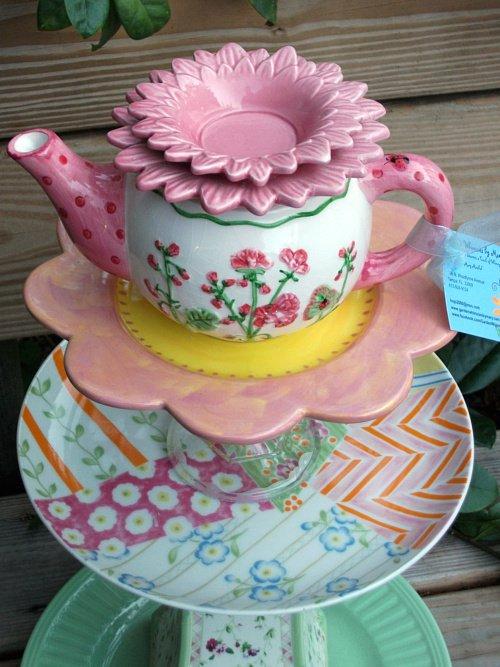 Whimsie teapot stack