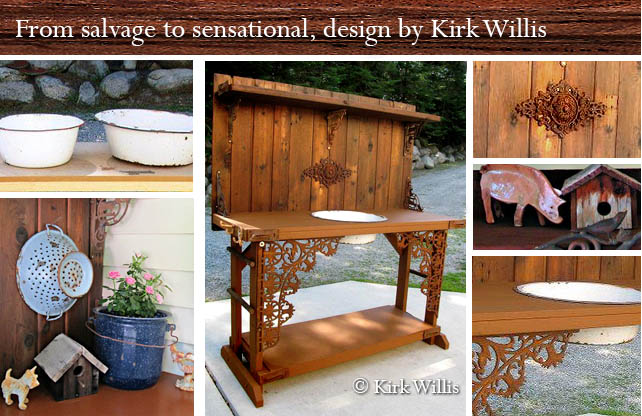 Kirk Willis's vintage style potting bench