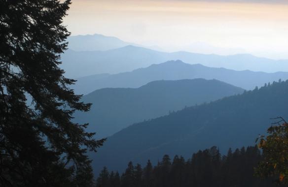 blue mountin view