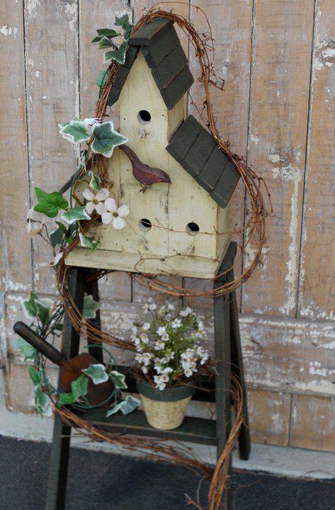 Annie S Bird House Ladder Flea Market Gardening