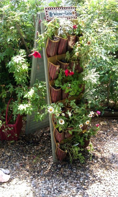 Cathy Cove's shutter plant rack