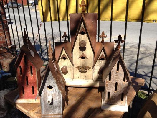 Birdhouses made by my friend, Jeff.