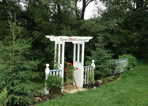 Brenda Krantz's door arbor into a secret garden.