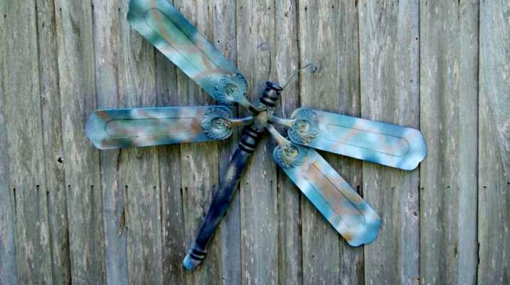 Making Dreamy Dragonflies For The Garden Flea Market Gardening Idea