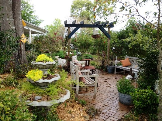 Join Kathy here on her relaxing brick patio,..I'm sure she'd welcome you!