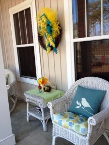 My front porch and I are ready for Spring!!