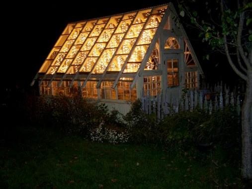 Laura's greenhouse in winter