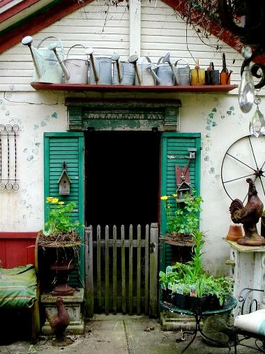 This is my potting shed which used to be an old milkhouse. It's still too cold here in Ohio to go out in it but I am hoping to get in it at the end of this week (fingers crossed)