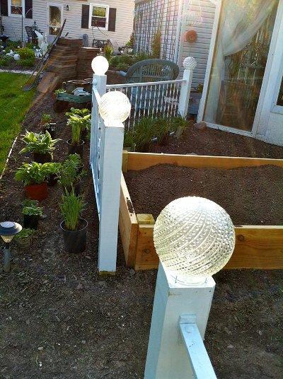 Re Purposing Old Light Fixtures In The Garden Flea