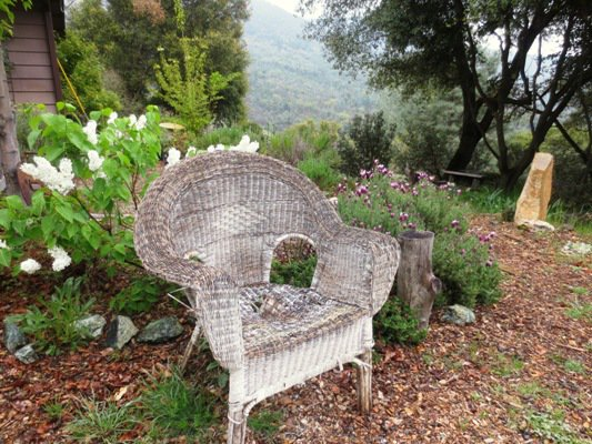 Decrepit wicker chair