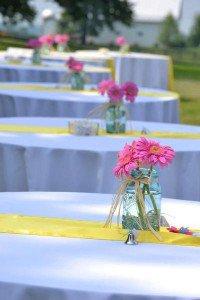 Andrea Hughes' wedding day centerpieces
