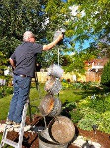 Ann Elias's husband helping make her tipsy fountain