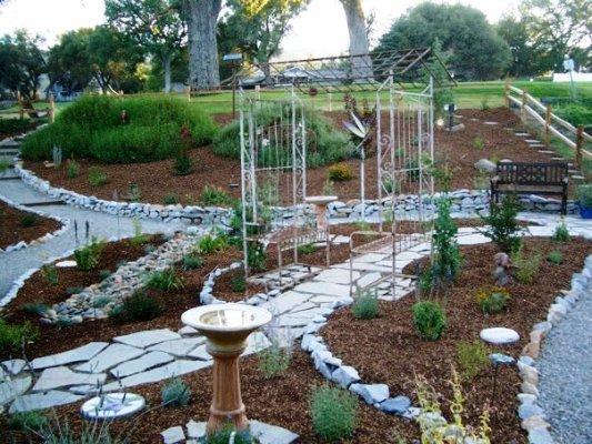 Barbara's garden in July 2012