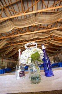 Billie Wilson- Mason jars and blue glass