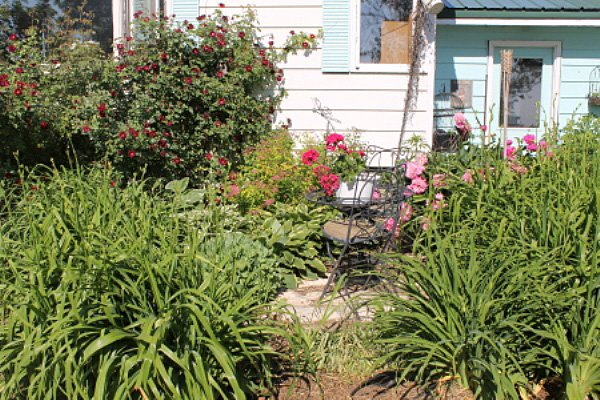 The Bistro Garden, conveniently next to Jean's house