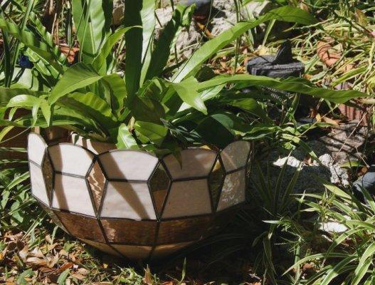 Cindy McRee lamp shade planter