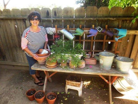 Jane's charming potting table