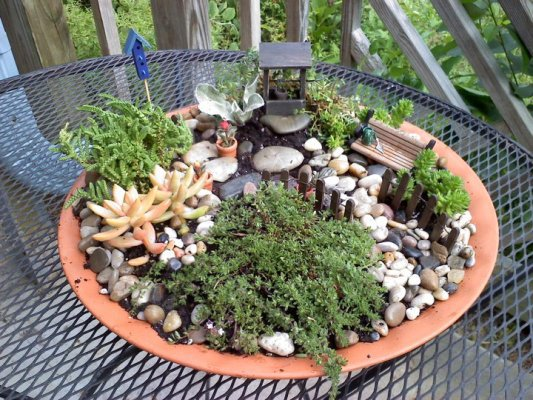 Fairy Gardens Ideas 16 do it yourself fairy garden ideas for kids Kay Bassetts Garden With Tiny Details Found And Made