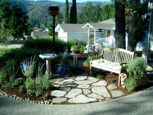 Peaceful circle garden